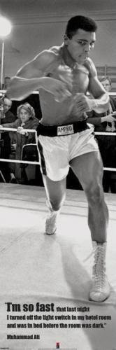 Posters Plakát, Obraz - Muhammad Ali - fast, (53 x 158 cm)