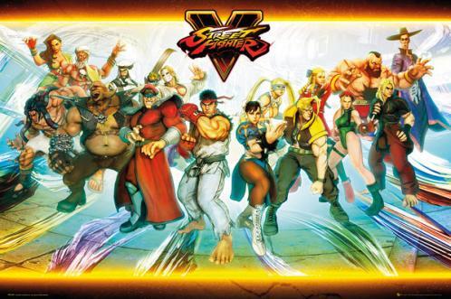 Posters Plakát, Obraz - Street Fighter 5 - Characters, (91,5 x 61 cm)