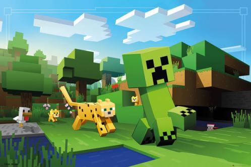 Posters Plakát, Obraz - Minecraft - Ocelot Chase, (91,5 x 61 cm)