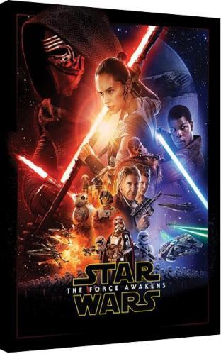 Posters Obraz na plátně Star Wars VII: Síla se probouzí - Rey Tri, (60 x 80 cm)