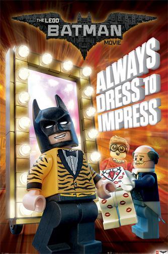 Posters Plakát, Obraz - Lego Batman - Always Dress To Impress, (61 x 91,5 cm)