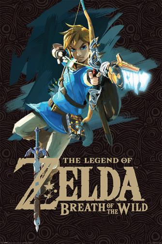 Posters Plakát, Obraz - Zelda Breath of the Wild - Game Cover, (61 x 91,5 cm)