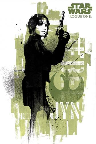 Posters Plakát, Obraz - Rogue One: Star Wars Story - Jyn Grunge, (61 x 91,5 cm)