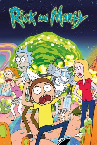 Posters Plakát, Obraz - Rick & Morty - Group, (61 x 91,5 cm)