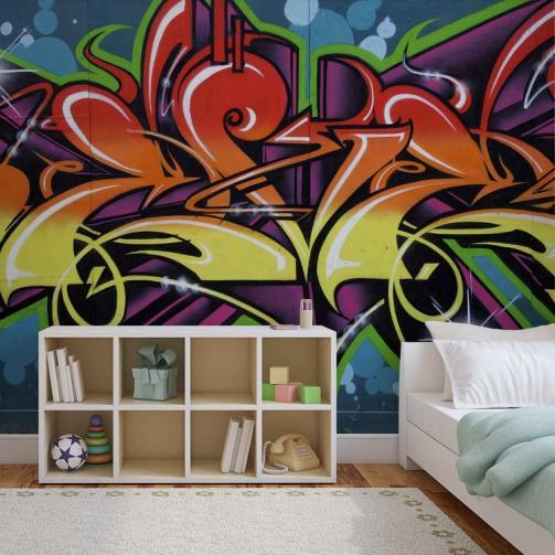 Posters Fototapeta, Tapeta Graffiti Street Art, (208 x 146 cm)
