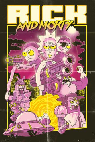 Posters Plakát, Obraz - Rick and Morty - Action Movie, (61 x 91,5 cm)