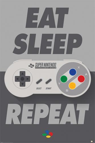 Posters Plakát, Obraz - Nintendo - SNES Controller, (61 x 91,5 cm)