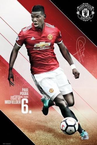 Plakát Manchester United - Pogba 17/18