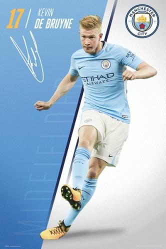 Plakát Manchester City - De Bruyne 17/18