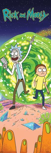 Posters Plakát, Obraz - Rick and Morty - Portal, (53 x 158 cm)