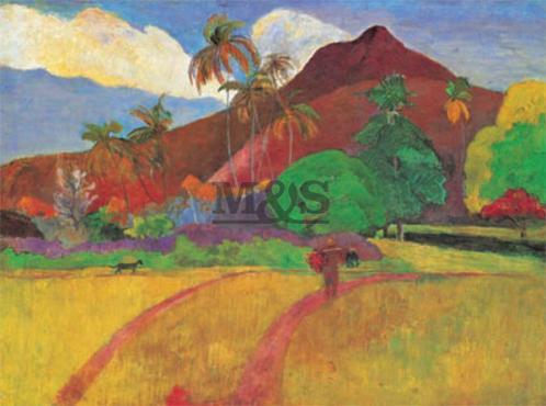 Posters Obraz, Reprodukce - Gauguin - paesaggio Tahitiano, (80 x 60 cm)