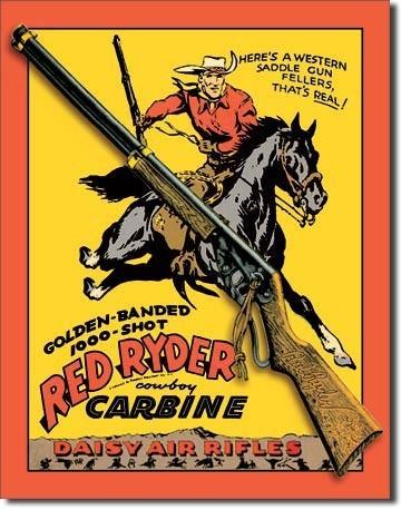 Posters Plechová cedule DAISY RED RYDER CARBINE, (32 x 41 cm)