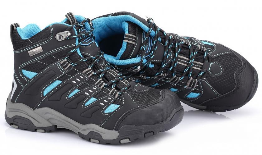 ALPINE PRO Dětská kotníková outdoorová obuv Balliol - modro-černé