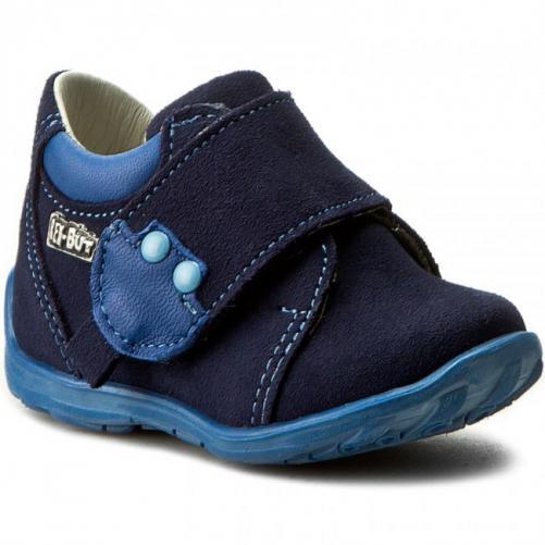 Ren But Chlapecké celokožené kotníkové boty - modré