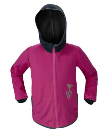 Unuo Dívčí softshellová bunda s fleecem Basic - růžová