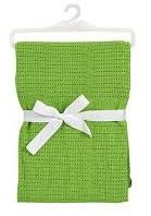 Baby Dan Dětská háčkovaná bavlněná deka Babydan - zelená EOL