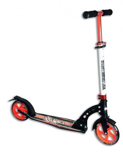 Authentic Sports Dětská skládací koloběžka - průměr kol 180 mm - oranžovo-černá