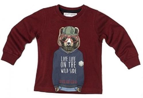 Minoti Chlapecké tričko s medvědem Great - červené