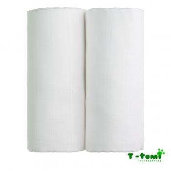T-tomi Látkové TETRA osušky 100x90, sada 2ks, bílá