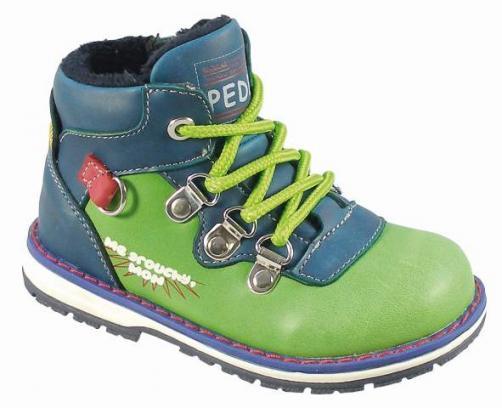 Peddy Chlapecké zateplené kotníkové boty - zeleno-modré