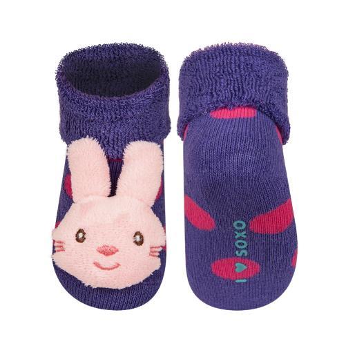 SOXO® Dívčí ponožky se zajíčkem - fialové
