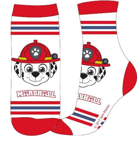 E plus M Chlapecké ponožky Paw Patrol - bílo-červené