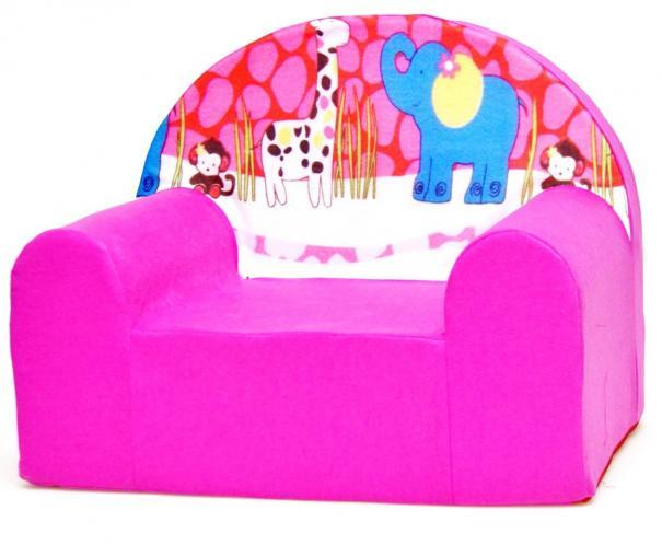 Baby Nellys Dětské křesílko Safari v růžové