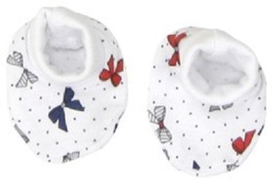 Mamatti Dívčí ponožky/capáčky Mašlička - barevné