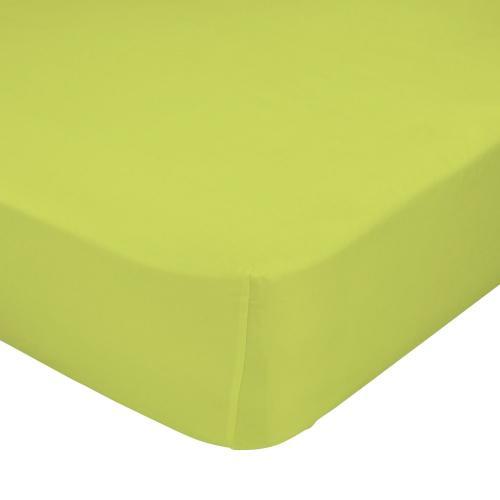 Mr. FOX Bavlněné prostěradlo, 90x200 cm - zelené