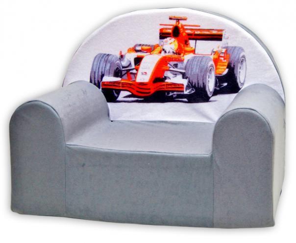 Baby Nellys Dětské křesílko Formule v šedé