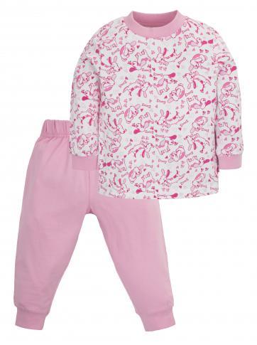 G-mini Dívčí pyžamo Pejsek - růžové