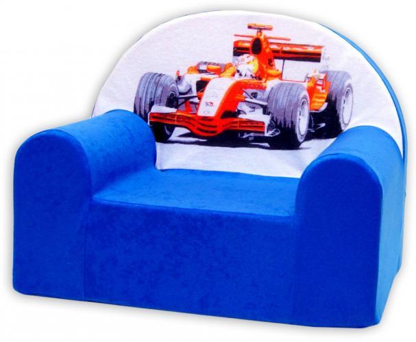 Baby Nellys Dětské křesílko Formule v modrém