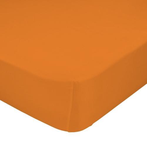 Mr. FOX Bavlněné prostěradlo, 90x200 cm - oranžové