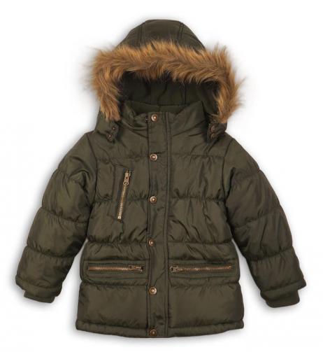 Minoti Chlapecký prošívaný kabát Mono - khaki