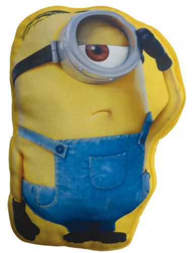 CTI Dětský 3D polštář Mimoni - Stuart, 50x37 cm - modro-žlutý