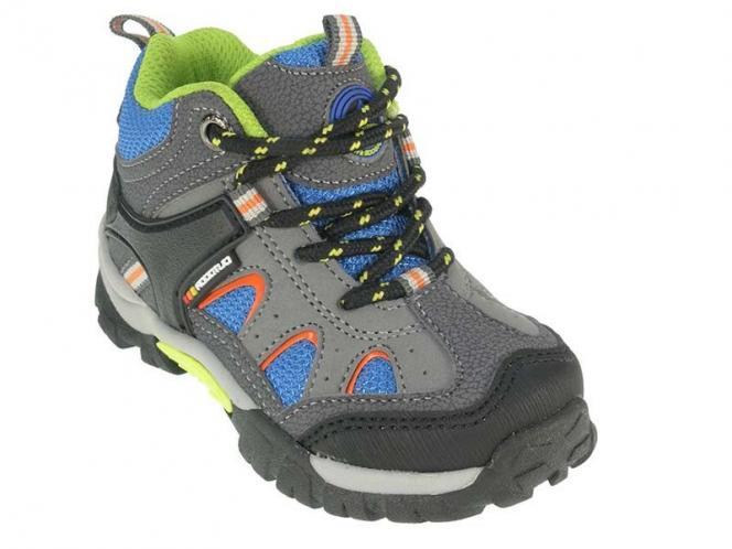 Beppi Chlapecké kotníkové outdoorové boty - šedo-modré