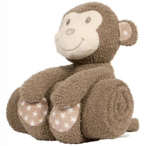 """Bo Jungle Plyšová hračka s dekou """"Monkey"""""""