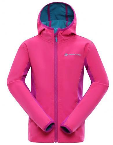 ALPINE PRO Dívčí softshellová bunda Nootko - růžová