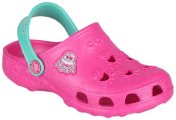 Coqui Dívčí sandály Little Frog - fuchsiové/mentolové