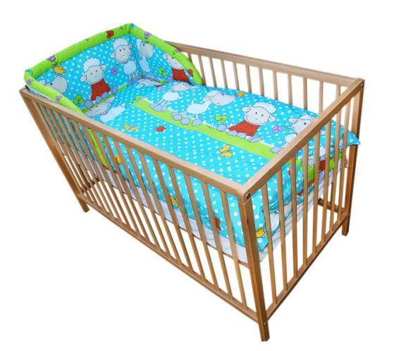 Cosing Dětská 3 dílná sada povlečení Comfort Ovečka - modrá