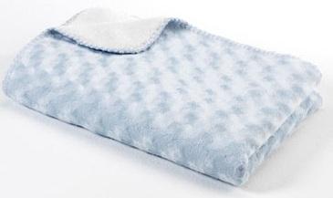 Baby Dan Dětská oboustranná deka double fleece, 75x100 cm - světle modrá