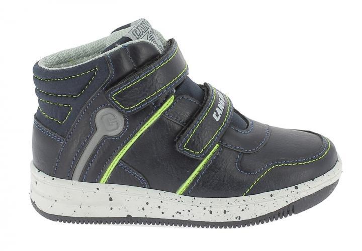 Canguro Chlapecké kotníkové boty - šedo-modré