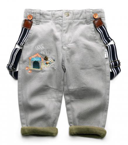 Gelati Chlapecké kalhoty s kšandami Good Boy - šedé