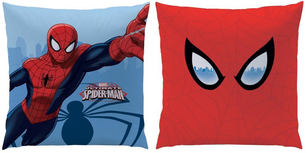 CTI Dětský oboustranný polštář Spiderman, 40x40 cm - červeno-modrý