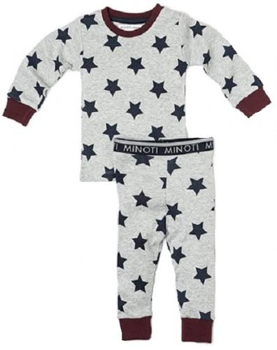 Minoti Chlapecké pyžamo s hvězdami Night - šedé
