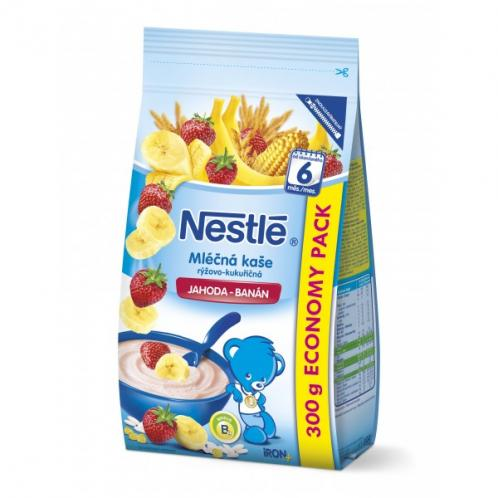 Nestlé Mléčná kaše banán a jahoda, 300g