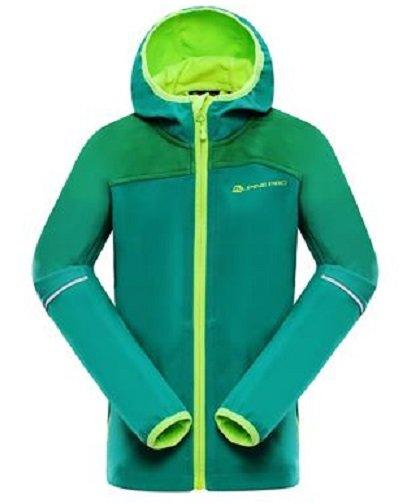 ALPINE PRO Chlapecká softshellová bunda Nootko - zelená