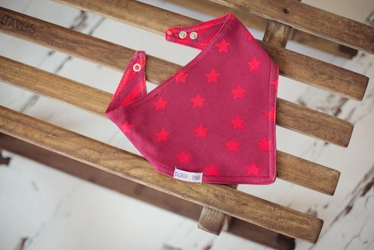 Blade & Rose Dívčí šátek s hvězdičkami a proužky - červený
