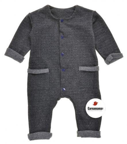 Garnamama Chlapecký overal - tmavě šedý