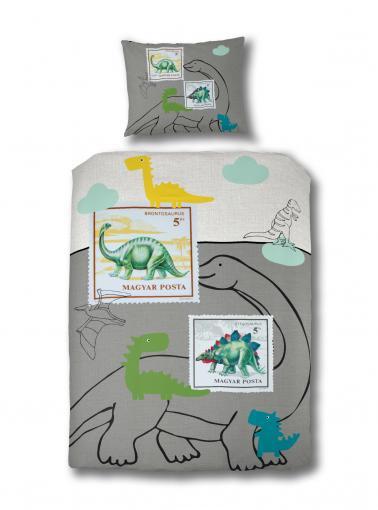Ekkelboom Dětské povlečení Dino, 140x200 cm/60x70 cm - barevné